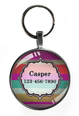 One inch sweet pet tag for small dogs custom new personalized steel tiny dog tag