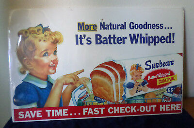 Vintage Sunbeam Bread Store Advertising Sign