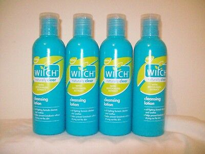 4 x Witch Naturally Clear Cleansing Lotion 200ml OIL FREE