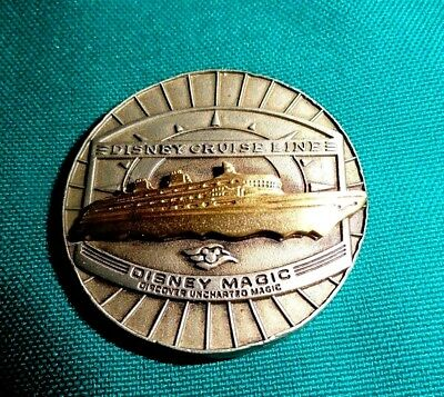 Disney Magic Uncharted Magic Coin Medal 3D Ship Disney Cruise Line