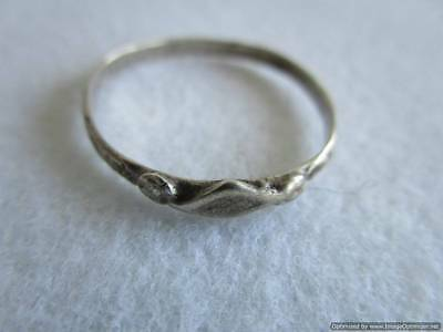 Old Russian Silver Ring, 1.16 g, end of the 19th century, rare, authentic, RRRI!