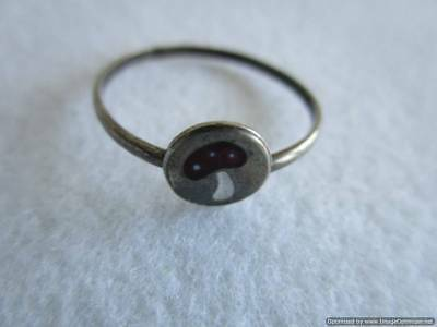 Old Russian Silver Ring, 0.88 g, end of the 19th century, rare, authentic, RRRI!