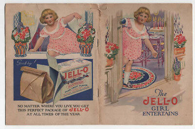 Vintage THE JELL-O GIRL ENTERTAINS RECEIPE BOOKLET w/ ROSE O'NEILL ILLUSTRATIONS