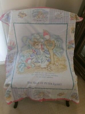 RARE English BEATRIX POTTER Peter Rabbit TODDLER DUVET COVER Crib Unisex 45X37