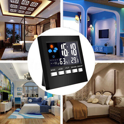 LED Digital Alarm Clock Backlight Electronic Calendar Thermometer Humidity Meter