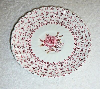 "JOHNSON BROS. SAUCER~""Rose Bouquet""~Made In England~Ironstone~Vintage"