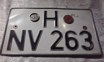 Vintage German Larger Rectangular License Plate 1986?