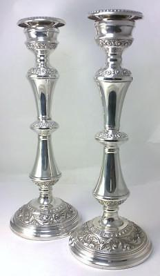 "Pair of Vintage hallmarked Sterling Silver 26cm  (10.4"") Candlesticks – 1970"