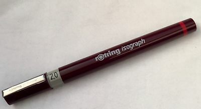 ROTRING ISOGRAPH TECHNICAL DRAWING PEN - 2.0mm NIB SIZE - NEW