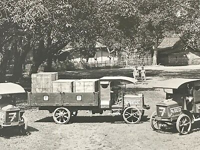 Set of 2 RARE FAGEOL Truck & Tractors Photos Black & White Card Stock Mounted