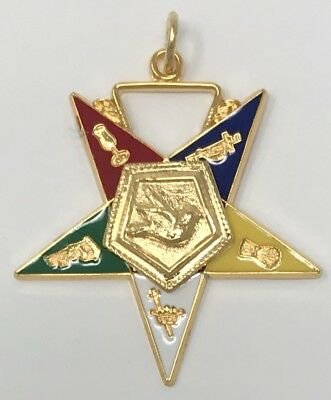"New Order of Eastern Star Warder 1-1/2"" Inch Officer Jewel"