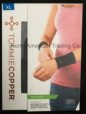 Tommie Copper Women's Recovery Compression Wrist Sleeves - XL/Slate Grey