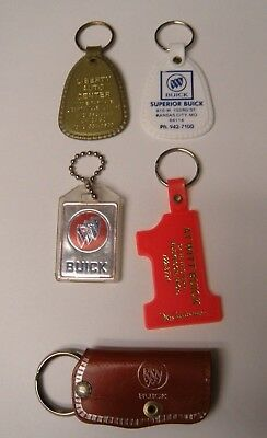 Lot of 5 Buick Dealership Keychains