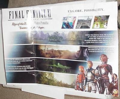 Final Fantasy XI Online Poster Video Game Promo