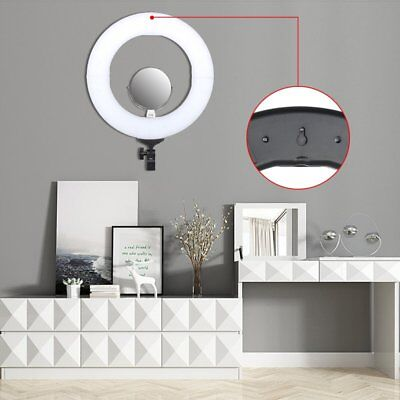 14inch LED Ring Light Dimmable 5500K Continuous Light for Photography Camera BT