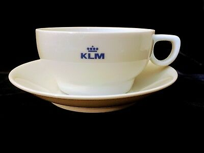 KLM Airlines First Class Hutschenreuther Germany Porcelain Coffee Cup & Saucer