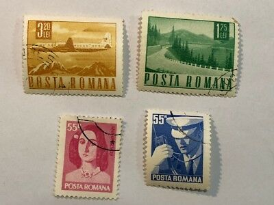 Old Vintage Posta Romana Romania Airline Postage Stamp Lot A