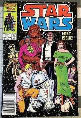 Star Wars #107 (Sep 1986, Marvel), NM, last issue of series, low dist RARE NICE!
