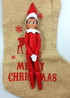 Christmas Elf Red Boy Soft Toy Decoration Excellent Condition USED