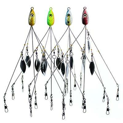 10 TWISTED WIRE ARMS FISHING RIG SPREADER DROPPER RIGS PERCH CRAPPIE PORGY RIG
