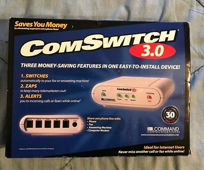 ComSwitch 3.0 Command Communications Phone/Fax/Modem Line Sharing Device