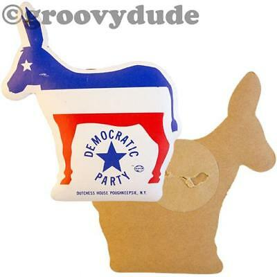 1976 Democratic Party Donkey Campaign Cardboard Puff Carter Pin Pinback Button