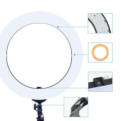 "ZOMEI Dimmable LED Ring Photography Photo Lamp 18"" Photographic Light BT"