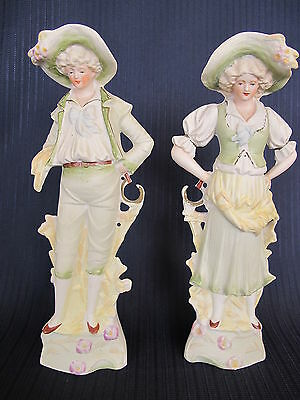 Vintage Victorian Porcelain Figurines Chase Hand-Painted Occupied Japan