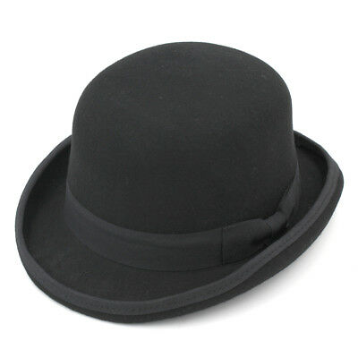 f3e68a905e8 Vintage High Quality Unisex 100% Wool Bowler Hat Luxury Gentleman Party Top  Cap