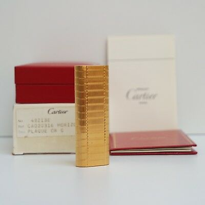 Nuovo - Accendino Les Must De Cartier Ovale Plaque Oro G - Briquet Lighter New