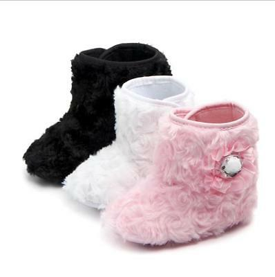 0a70efb40 Baby Girl Boy Snow Boots Winter Booties Infant Toddler Newborn Crib Shoes  0-18M