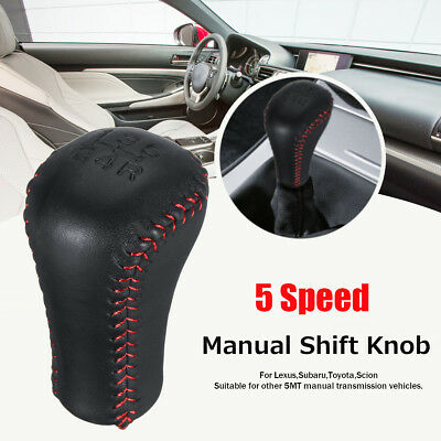 Universal 5 Speed PU Leather Manual Gear Shift Knob For Lexus /Subaru /Toyota