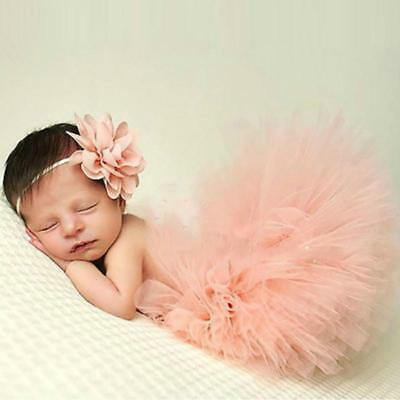 Chic Newborn Toddler Baby Girl Tutu Skirt & Headband Photo Prop Costume C