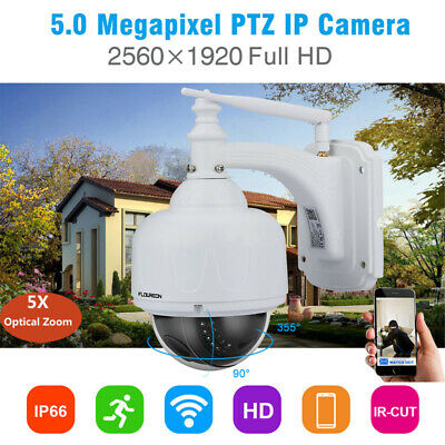 FLOUREON Wireless WIFI​ 1080P FHD 5X ZOOM Outdoor CCTV Security IP Camera PTZ UK