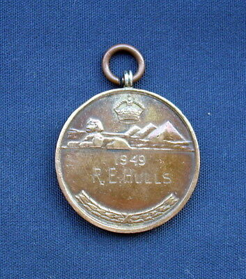 British Army Middle East Shooting Medal 1949 - R.E.Hulls