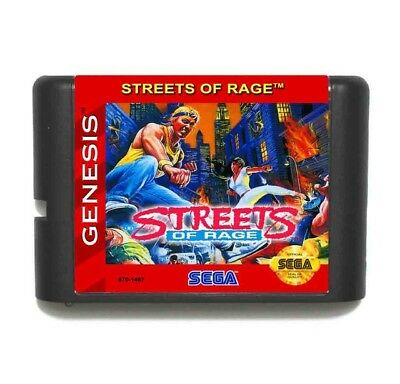 Street Of Rage 16 bit MD video Game Card Sega Mega Drive Genesis