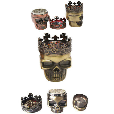 Skull Herb Spice Grinder Herbal Alloy Smoke Metal Chromium Crusher Home Tool