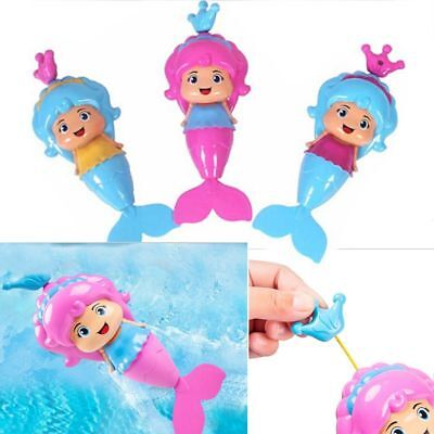 Wind Up Clockwork Mermaid Kid Baby Swimming Favor Bath Time Play Toys UK STOCK