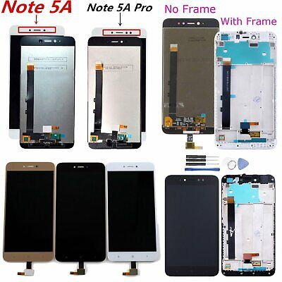 For Xiaomi Redmi Note 5A /5A Pro/Prime LCD Display Touch Screen Digitizer +Frame