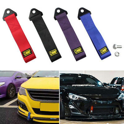 Sports High Strength Racing Car Tow Strap Set for Front Rear Bumper Towing Hook