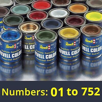 Revell 14ml Enamel Paints - Numbers: 01 to 89 (Part 1) - Find complete selection