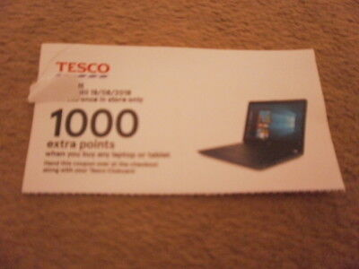 1000 extra Tesco points (worth £30) on a laptop or tablet