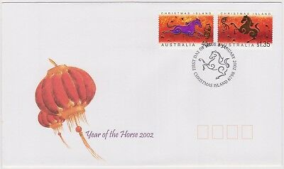 (K89-86) 2002 Christmas Island FDC $1.75 year of the Horse (CK)