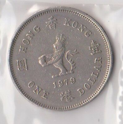 (H88-87) 1979 Hong Kong one dollar coin (CL)