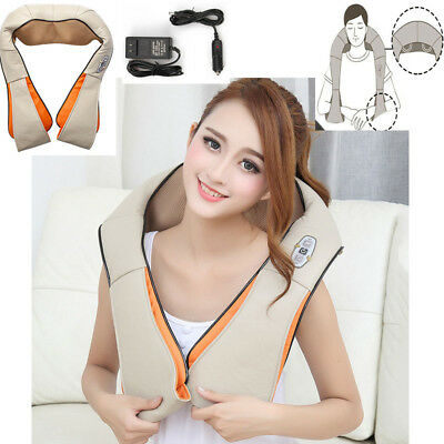 Back Shoulder Massager Deep Kneading Neck Pillow Cordless Rechargeable New