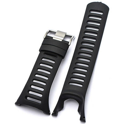 For Suunto Ambit 3 Peak / Ambit 2 1 Black Rubber Watch Strap Band Replacement