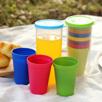 e7a013c69a9 7Pcs Kids Mug Plastic Cups&Water Battle Set Of 8 Reusable&Unbreakable Travel