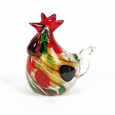 Cockeral  Objet d'art Glass Figurine/Paperweight by The Juliana Collection 60286