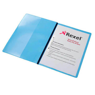 Rexel Nyrex Boardroom Flat File Semi-rigid with Front Full Pocket A4 Blue PK 5