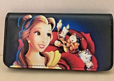 Disney Beauty And The Beast Wallet Clutch Belle Faux Leather Loungefly